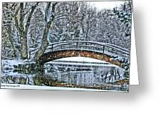 Snow Bridge Greeting Card