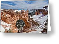 Snow Capped Arch At Bryce Greeting Card