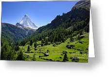 Snow-capped Matterhorn Greeting Card