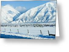Snow Capped Mountains Greeting Card