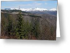 Snow Capped View Greeting Card