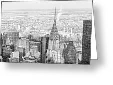 Snow - Chrysler Building And New York City Skyline Greeting Card