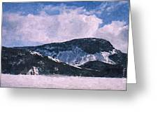 Snow Clouds - Winter - Ice Greeting Card