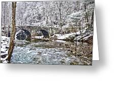 Snow Coming Down On The Wissahickon Creek Greeting Card