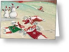 Snow Corgi Greeting Card