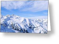 Snow Covered Alps, Schonjoch, Tirol Greeting Card