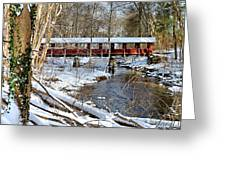 Snow Covered Bridge Greeting Card