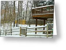 Snow Covered Fences Greeting Card