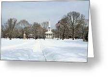 Snow Covered Guilford Greeting Card