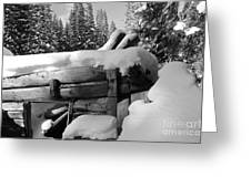Snow Covered History Greeting Card