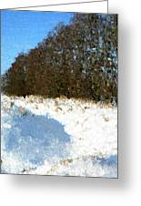 Snow Covered Riverbed Greeting Card