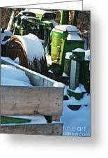 Snow Covered Tractor Greeting Card by PainterArtist FIN