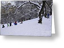 Snow Day In The Park Greeting Card