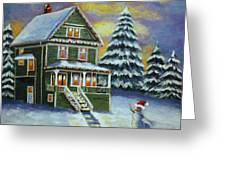 Snow Day Greeting Card by Melanie Cossey