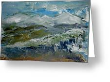 Snow Drifts On The Hill Greeting Card