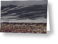 Snow Dunes By Night Greeting Card