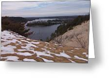 Snow Dunes Greeting Card