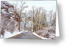 Snow Dusted Colorado Scenic Drive Greeting Card