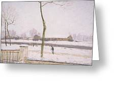 Snow Effect Effet De Neige Pastel On Paper C. 1880-1885 Greeting Card
