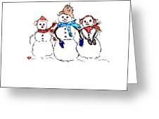 Snow Family Greeting Card