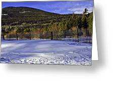 Snow Fence Fall River Road Greeting Card by Tom Wilbert
