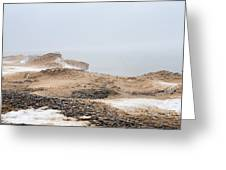 Snow Fog At Whitefish Point Greeting Card
