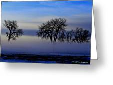 Snow Fog Greeting Card by Rebecca Adams
