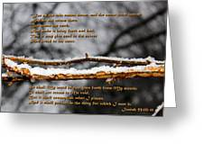 Snow From Heaven Greeting Card