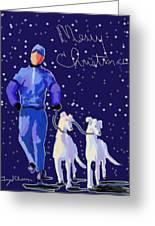 Snow Greys Greeting Card