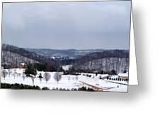 Snow Hills Greeting Card