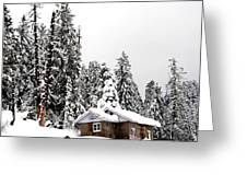 Snow House- Gulmarg- Kashmir- India- Viator's Agonism Greeting Card