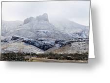 Snow In Big Bend Greeting Card