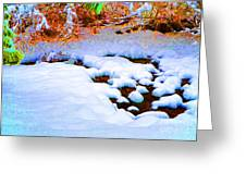 Snow In Color Greeting Card