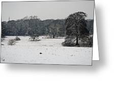 Snow In Lincolnshire Greeting Card
