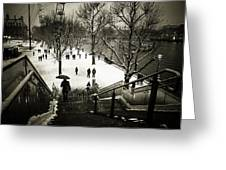 Snow In London Greeting Card