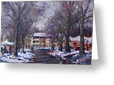 Snow In Silverado Dr Greeting Card