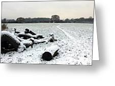 Snow In Surrey England Greeting Card