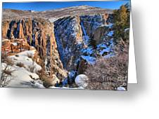 Snow In The Black Canyon Greeting Card