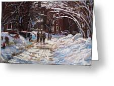 Snow In The City Greeting Card by Jack Skinner