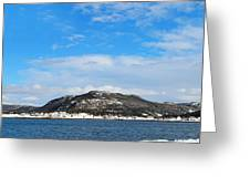 Snow In The Harbour Greeting Card
