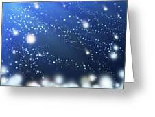 Snow In The Wind Greeting Card