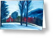 Snow In Vermont Greeting Card