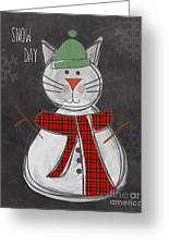 Snow Kitten Greeting Card