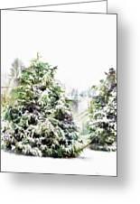 Snow Laden - Digital Effect IIi Greeting Card