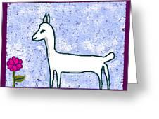 Snow Lamb Greeting Card by Meenal C