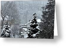 Snow Landscape Greeting Card