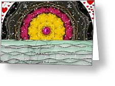 Snow Love Pop Art Greeting Card