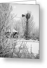 Snow Mill Greeting Card