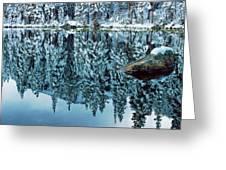 Snow Mirror Greeting Card