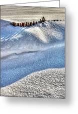 Snow Mound Greeting Card